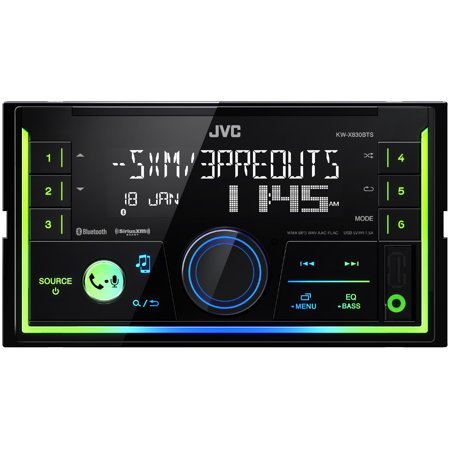 JVC KW-SX83BTS In-dash Receiver, Front USB (Apple and Android Compatible), Aux Input, SiriusXM Ready (Does not play
