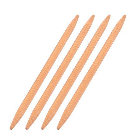 Women Bamboo Hats Caps Socks Yarn Crafting Knitting Needles Brown 7mm Dia 4pcs - image 2 of 2