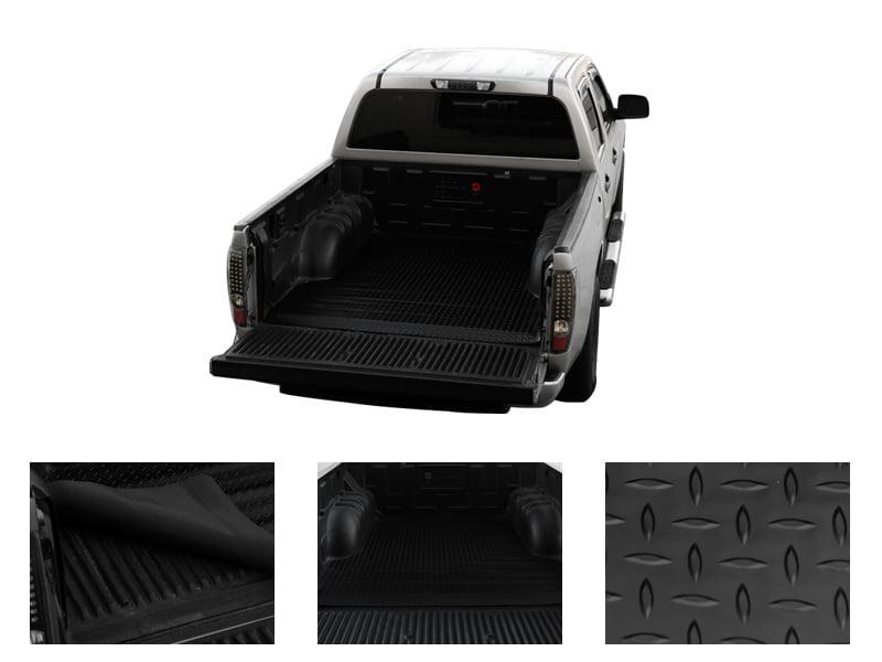 R/&L Racing Black Diamond Plate Truck Bed Mat Rubber Trunk Floor Carpet 2004-2014 for Ford F150//Mark Lt 6.5
