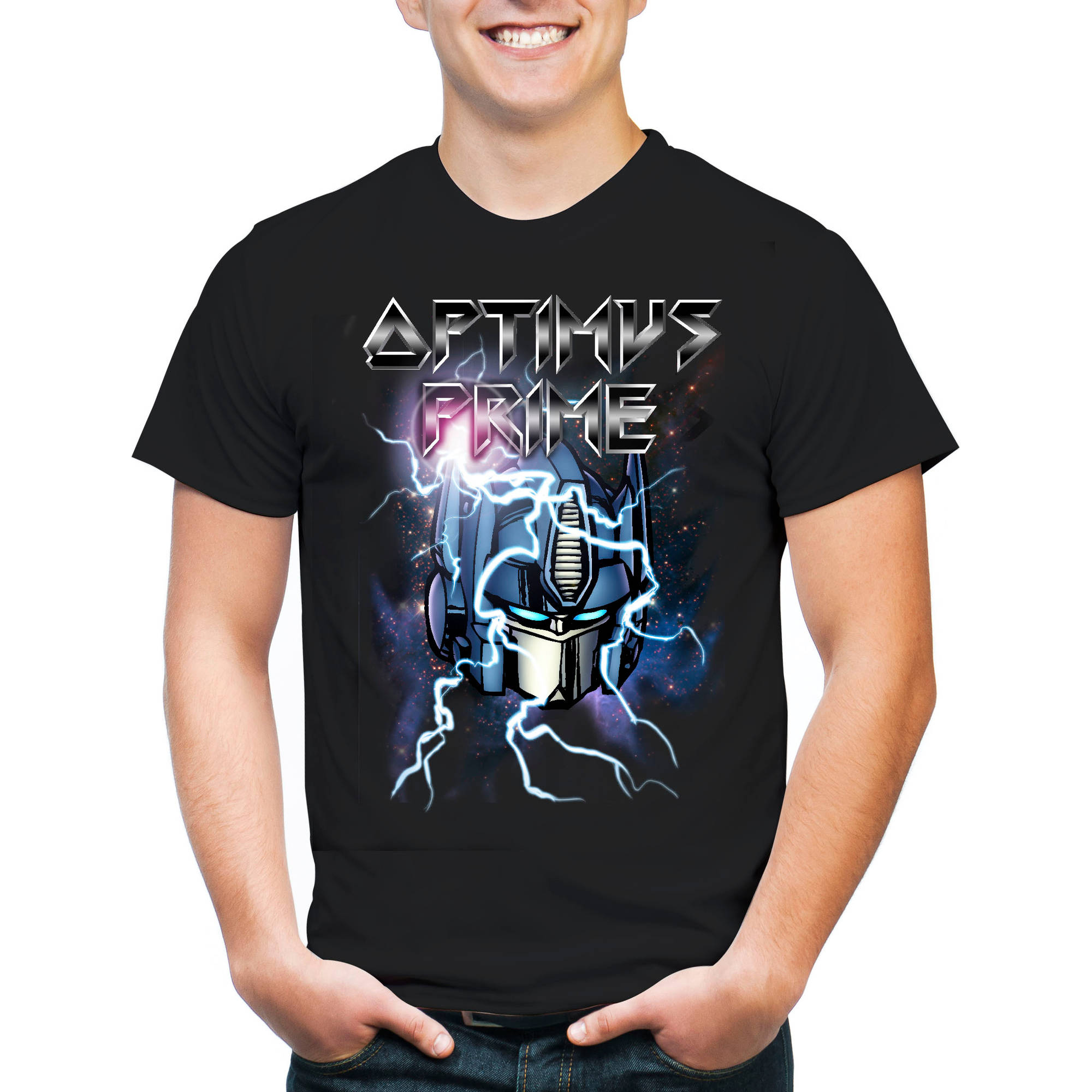 Transformers Optimus Men's Graphic Short Sleeve T-Shirt