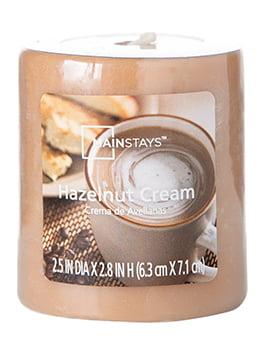 "Click here to buy Mainstays 2.8"" Pillar Candle, Hazelnut Cream by MVP Group International."