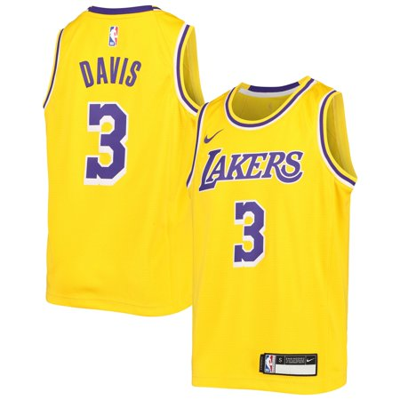 Anthony Davis Los Angeles Lakers Nike Youth Swingman Jersey - Icon Edition - Gold Davis Autographed Jersey