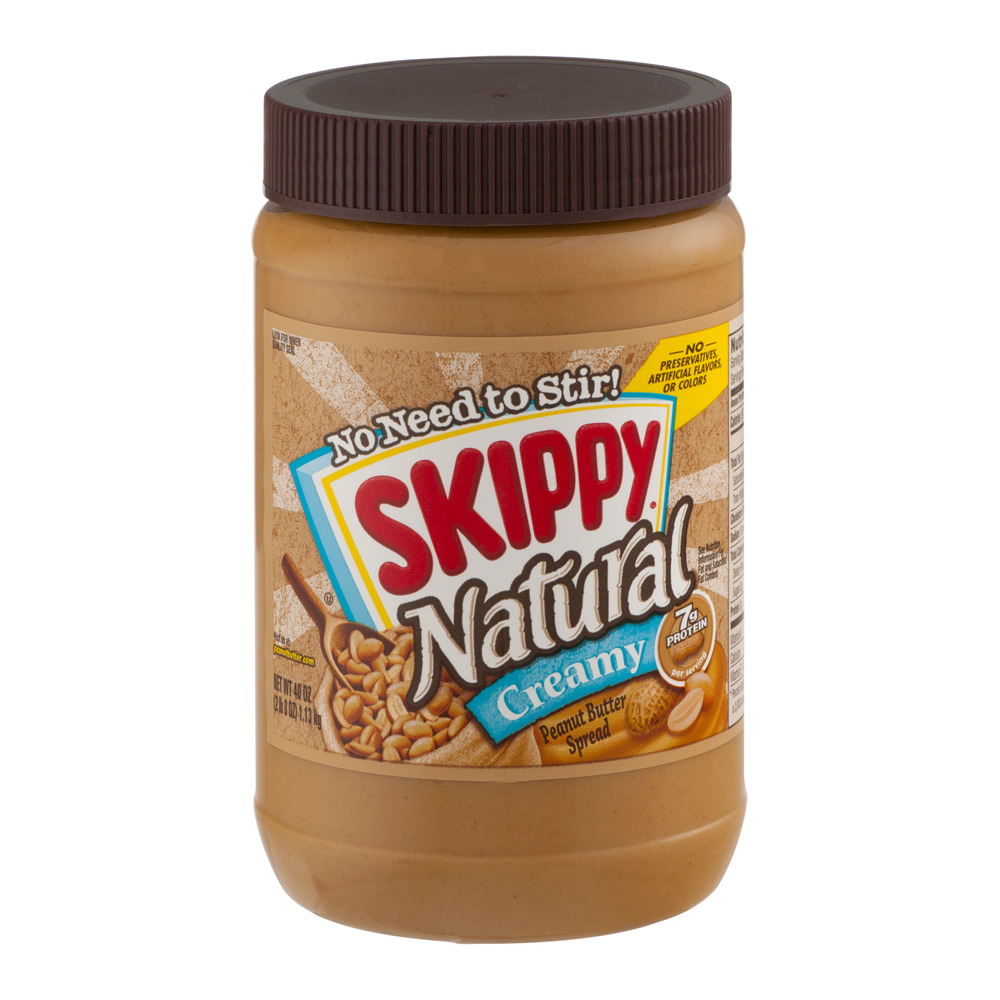 Skippy Natural Creamy Peanut Butter Spread, 40.0 OZ
