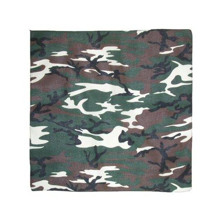 Size one size Cotton Camouflage / Hunting Bandanas, - Woodland Camo Bandana Mask