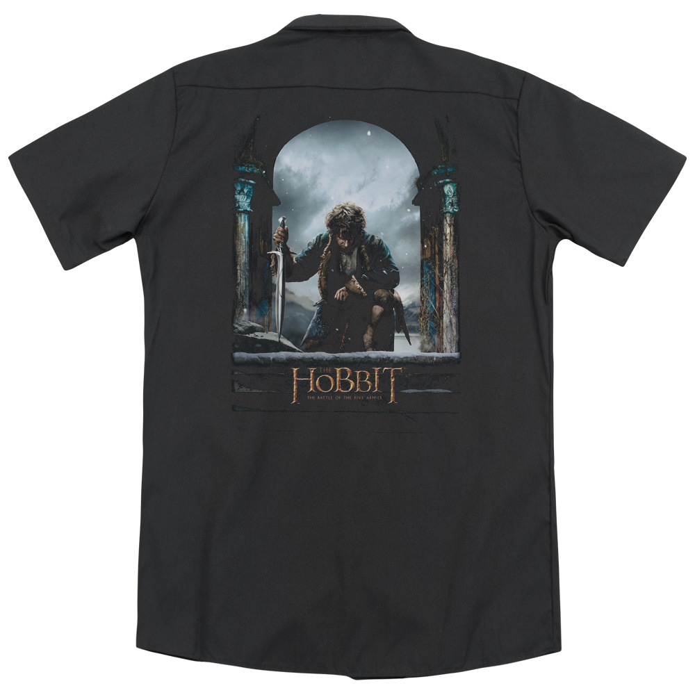 Hobbit Bilbo Poster (Back Print) Mens Work Shirt