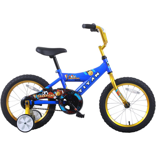 "16"" Titan Champions Boys' BMX Bike, Blue and Gold"