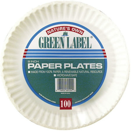 Nature's Own Green Label Paper Plates, 9
