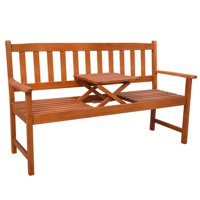 Garden Bench with Pop-up Table Acacia Wood