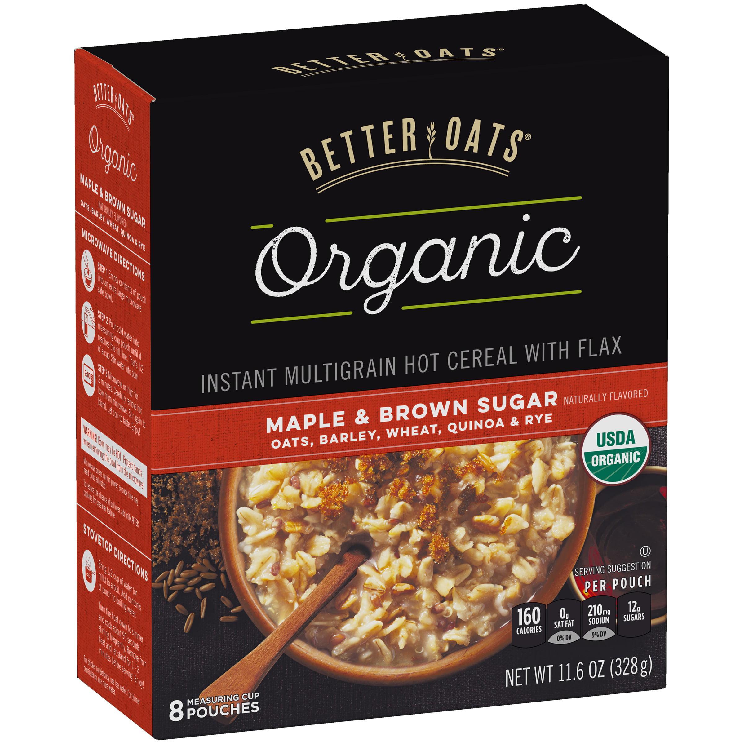 Better Oats® Organic Maple & Brown Sugar Instant Multigra...