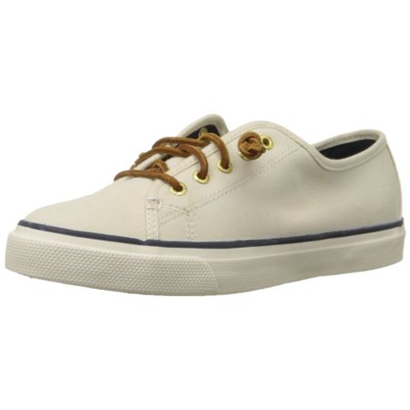 Sperry STS90549-090 Women's Seacoast Canvas Sneakers, Ivory, 9 M US Sperry Canvas Shoes