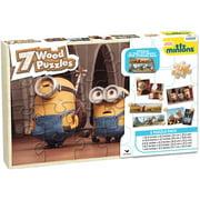 Minions 7 Wood Jigsaw Puzzles in Wood Storage Box
