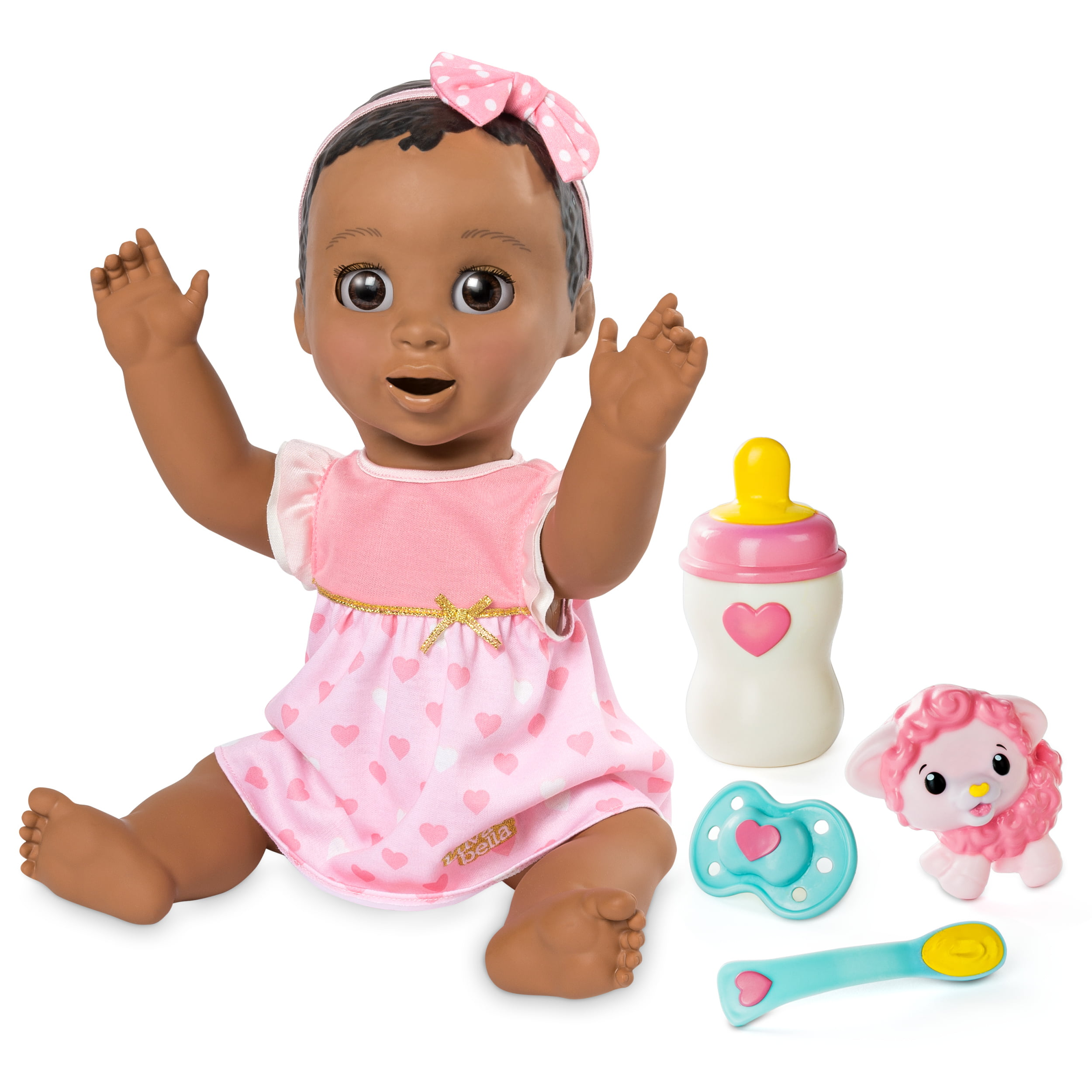 Luvabella Dark Brown Hair Responsive Baby Doll with Realistic Expressions and Movement by Spin Master Ltd