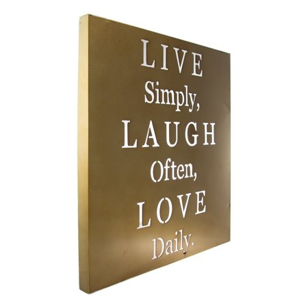 Live Laugh Love Metal Wall Art Inspirational Words Home Quote Decor ...