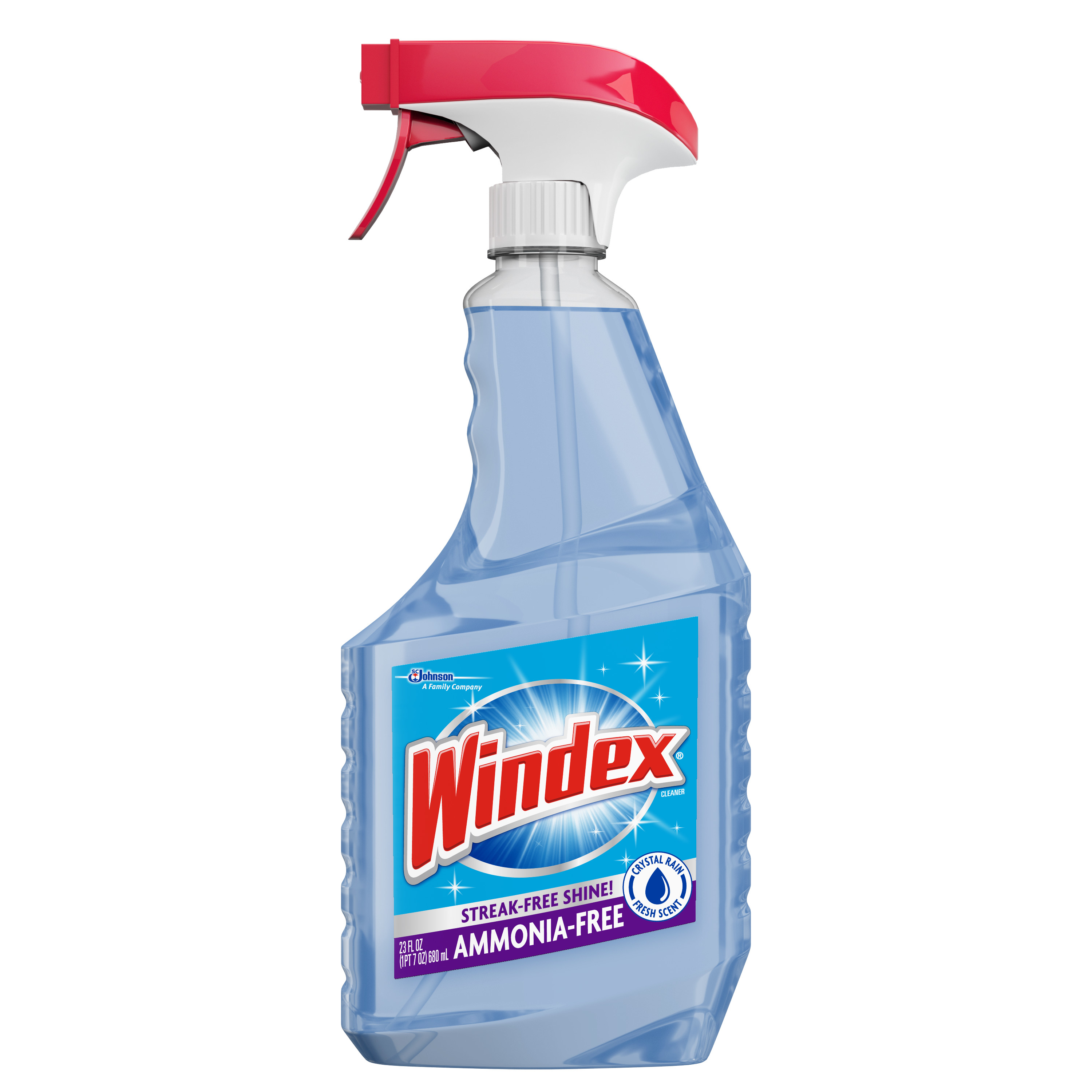 Windex Crystal Rain Glass Cleaner Trigger 23 Fluid Ounces