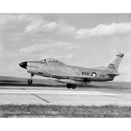LAMINATED POSTER A U.S. Air Force North American F-86L Sabre fighter from the 187th Fighter Interceptor Squadron, 153 Poster Print 24 x - Sabre Interceptor