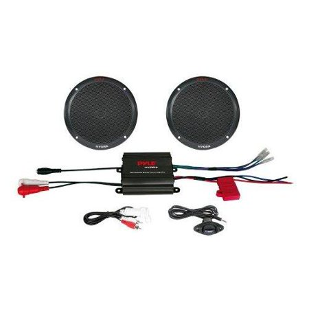 2 Channel 400 Watt Waterproof Micro Marine Amplifier & 6.5
