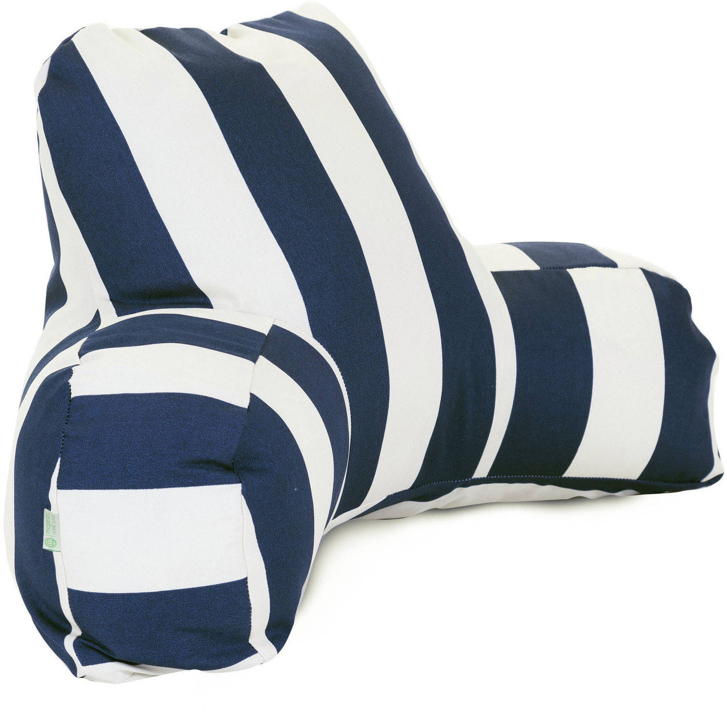 Majestic Home Goods Vertical Stripe Reading Pillow, Indoor/Outdoor