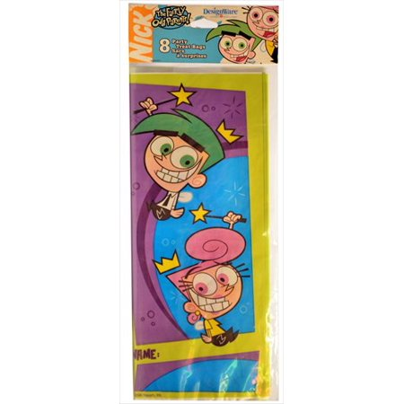 Fairly OddParents Cello Favor Bags w/ Twist Ties - Fairly Oddparents Halloween Song