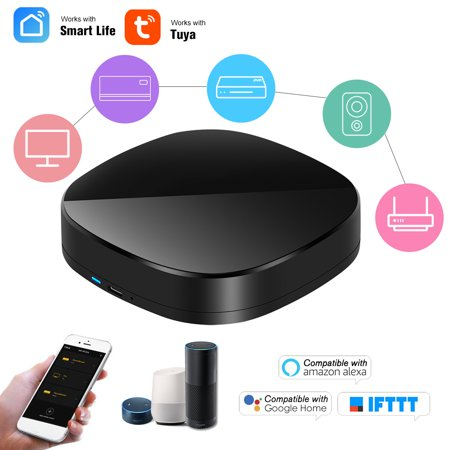 WiFi-IR Remote IR Control Hub Wi-Fi() Enabled Infrared Universal Remote Controller For Air Conditioner TV Using Tuya Smart Life APP Compatible with Home IFTTT Voice Control
