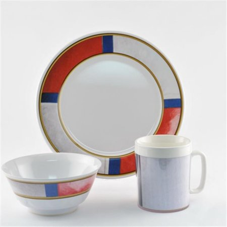Galleyware 1072-S 18 Decorated Melamine Non-skid 18 Piece Dinnerware Gift (Non Skid Dinnerware)