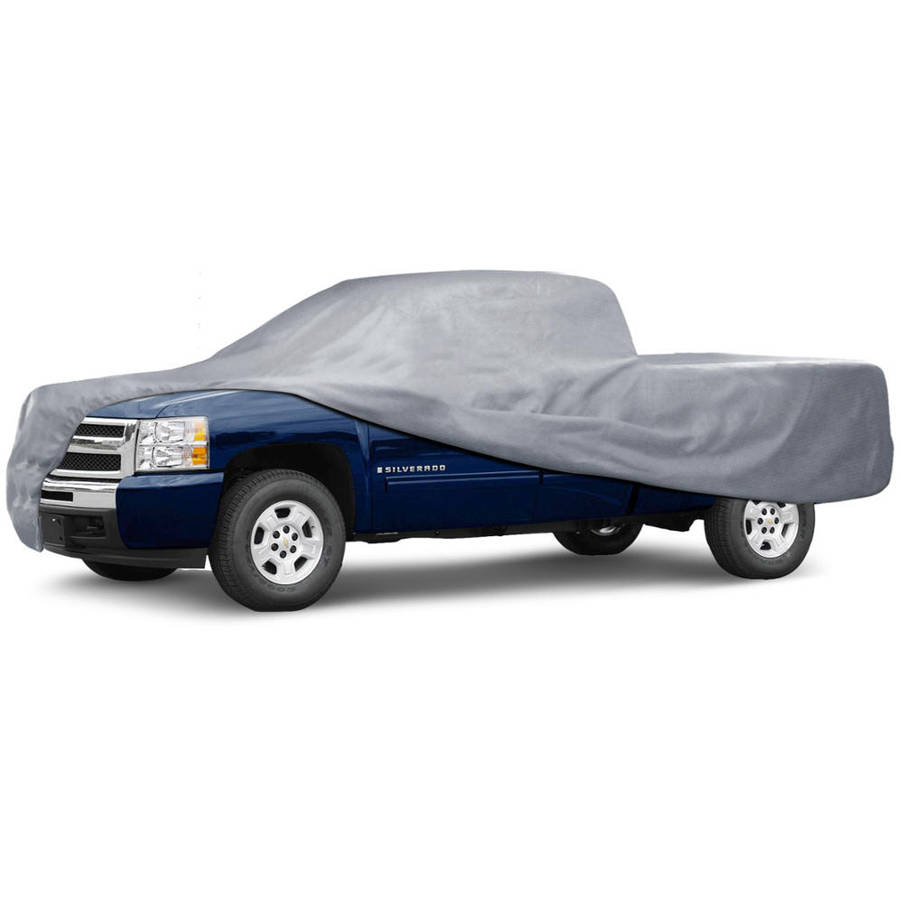 MotorTrend Pick Up Truck Car Cover, 3 Layers, Outdoor Tough, Waterproof, Small