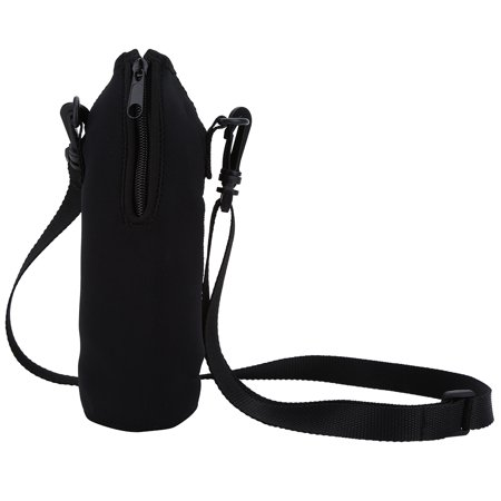 Water Bottle Carrier,1L Thermal Holder Bag Scald-Proof Neoprene Water Bottle Holder Bag Case Pouch Cover with Adjustable Shoulder Strap, Great for Stainless Steel and Plastic Bottles](Water Bottle Holder)