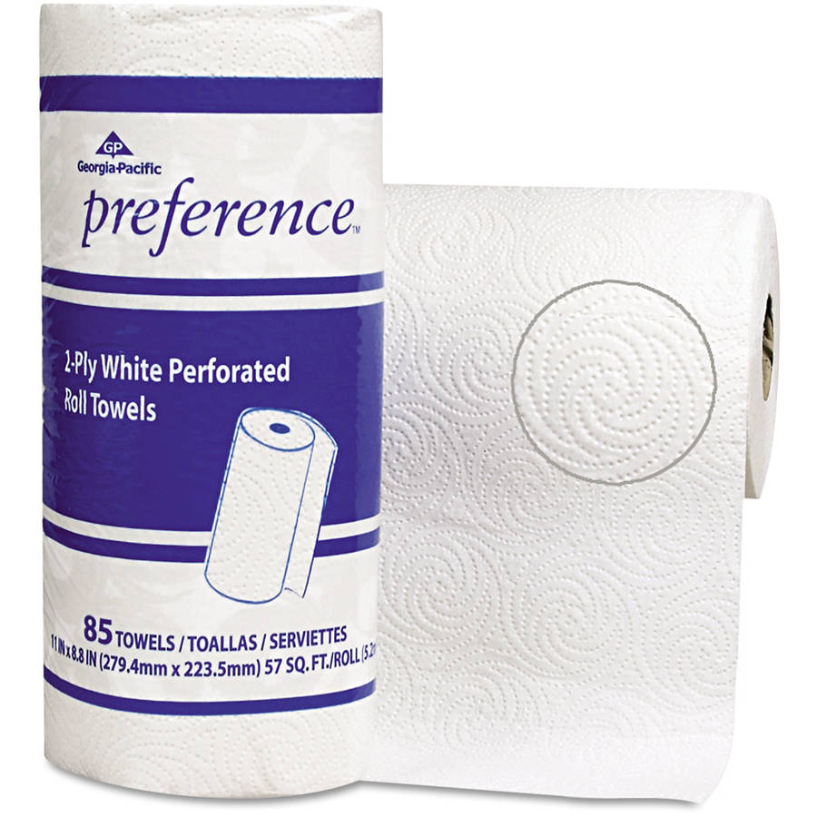 Georgia Pacific Preference Perforated Roll Towels, White, 85 sheets, (Pack of 15)