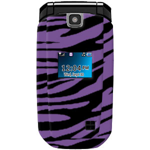 Premium Zebra Purple Snap On Hard Shell Case for LG AX310
