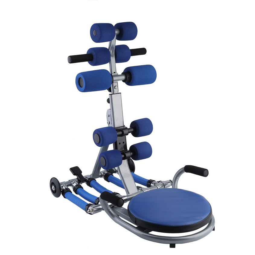 Hot Sale Lazy People Ab Abdominal Trainer Exercise Workout Fitness Machine Body Shaper(Blue)