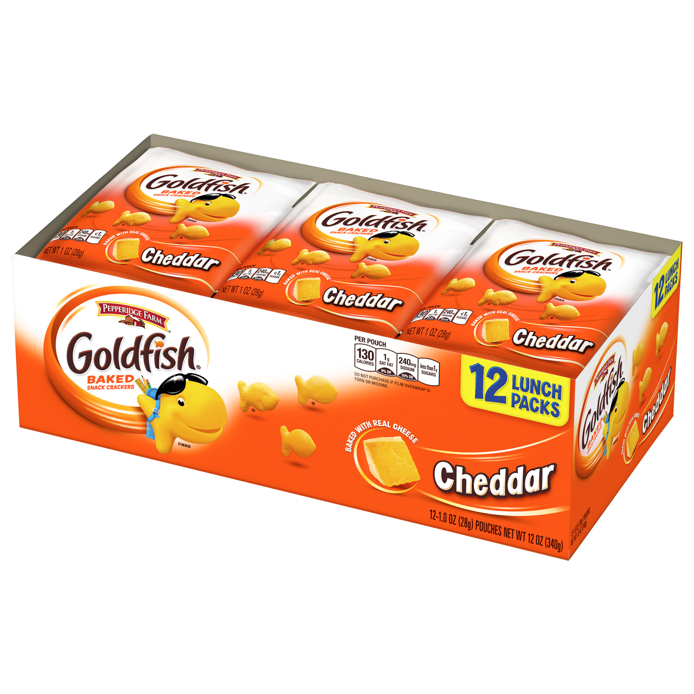 Pepperidge Farm�� Goldfish�� Cheddar Baked Snack Crackers 12-1 oz. Pouches