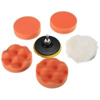 4 inches Car Polisher Buffer Pad Car Sponge Woolen Polishing Waxing Buffing Pad Kit Set with M10 Drill Adapter