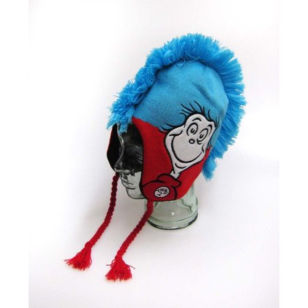 Dr. Seuss Thing One Thing Two Intarisa Peruvian Mohawk Laplander Hat (Thing 1 And Thing 2 Baby Hats)