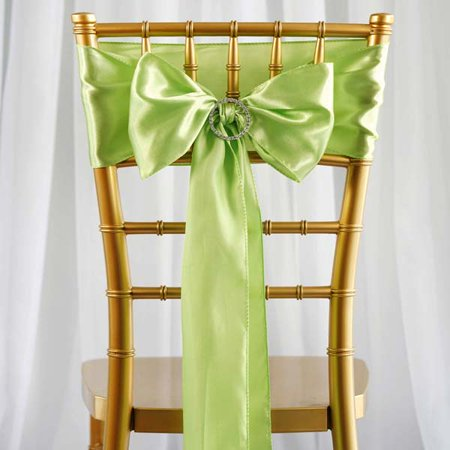 Efavormart 25pcs SATIN Chair Sashes Tie Bows for Wedding Events Banquet Decor Chair Bow Sash Party Decoration Supplies  6 (Gold Wedding Mounting)