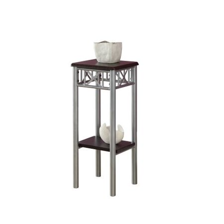 Monarch Specialties Side Table Ii 24 Inch Tall Square With Tempered G