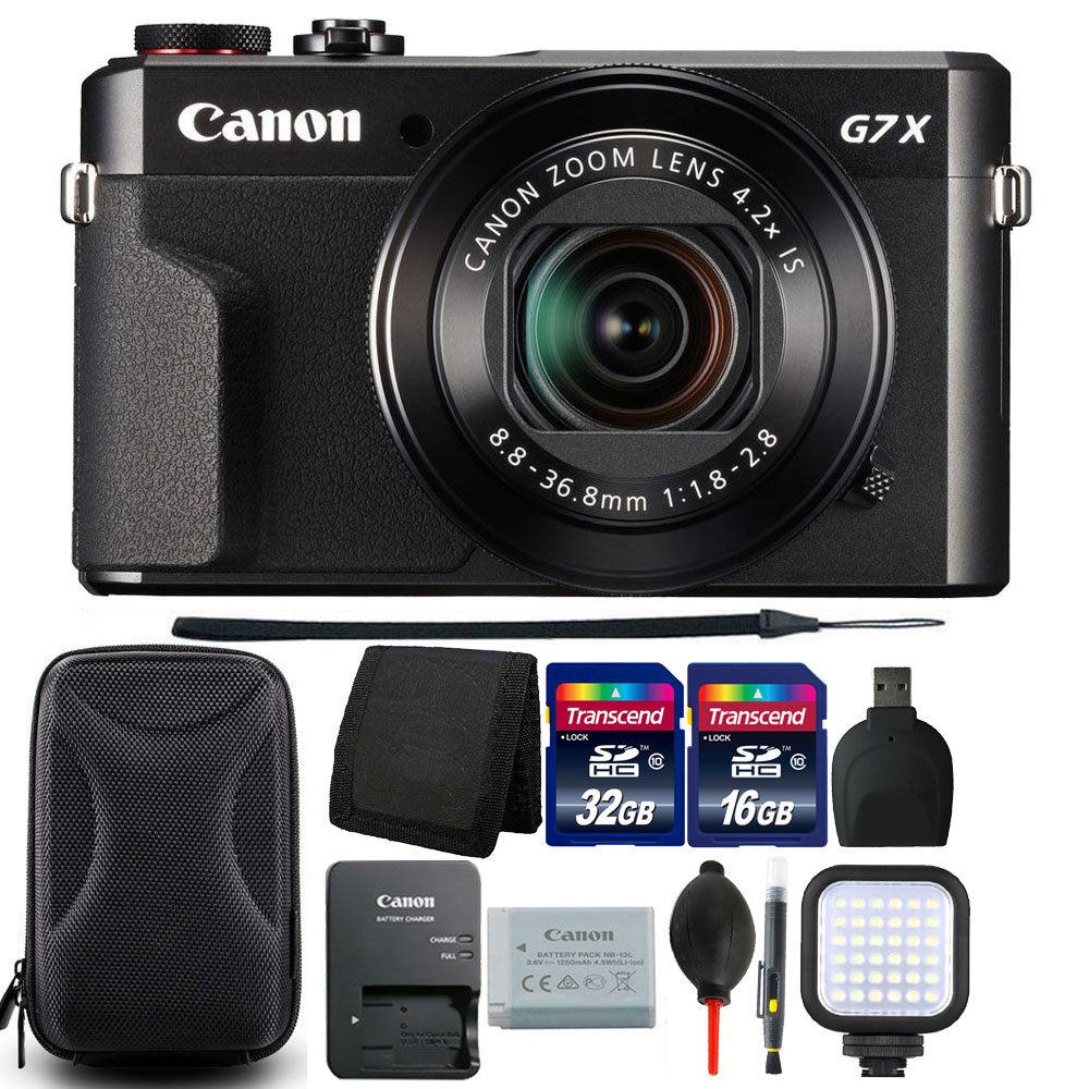 Canon PowerShot G7 X Mark II Digital Camera with 48GB Accessory Bundle