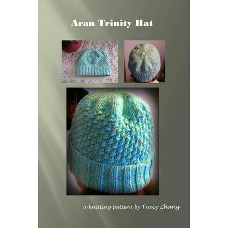 Aran Trinity Hat Knitting Pattern - eBook