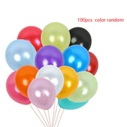 100pcs 10 Inch Thickening Pearlized Ballons Mixed Color Latex Ballon Wedding Party Supplies