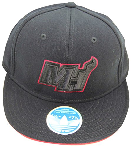 "NBA Miami Heat Flat Bill ""MH Logo"" Flex Fit S/M Cap Hat"