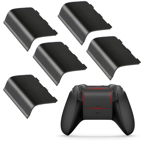 - 5-pack Replacement Battery Door Shell Cover for Xbox One Wireless Controller