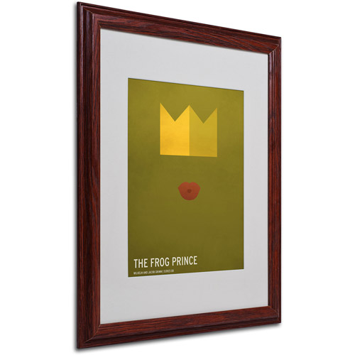 "Trademark Fine Art ""The Frog Prince"" by Christian Jackson, Wood Frame"