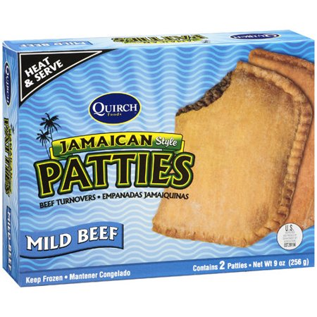 Quirch Foods Jamaican Style Patties Mild Beef Turnovers, 9 oz ...