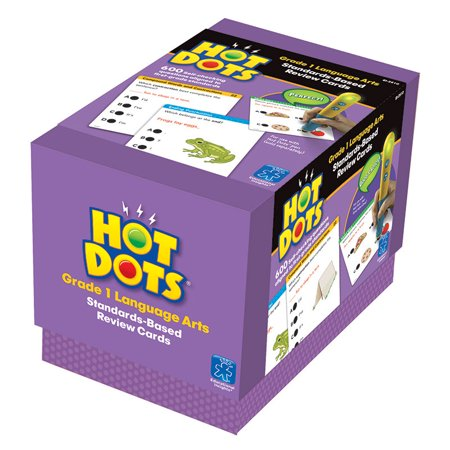 Hot Dots Standards-Based Language Arts Card Set, Grade 1