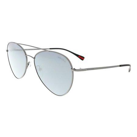 Prada Linea Rossa PS 50SS 7CQ5L0 Black / Grey / Gunmetal Pilot Sunglasses