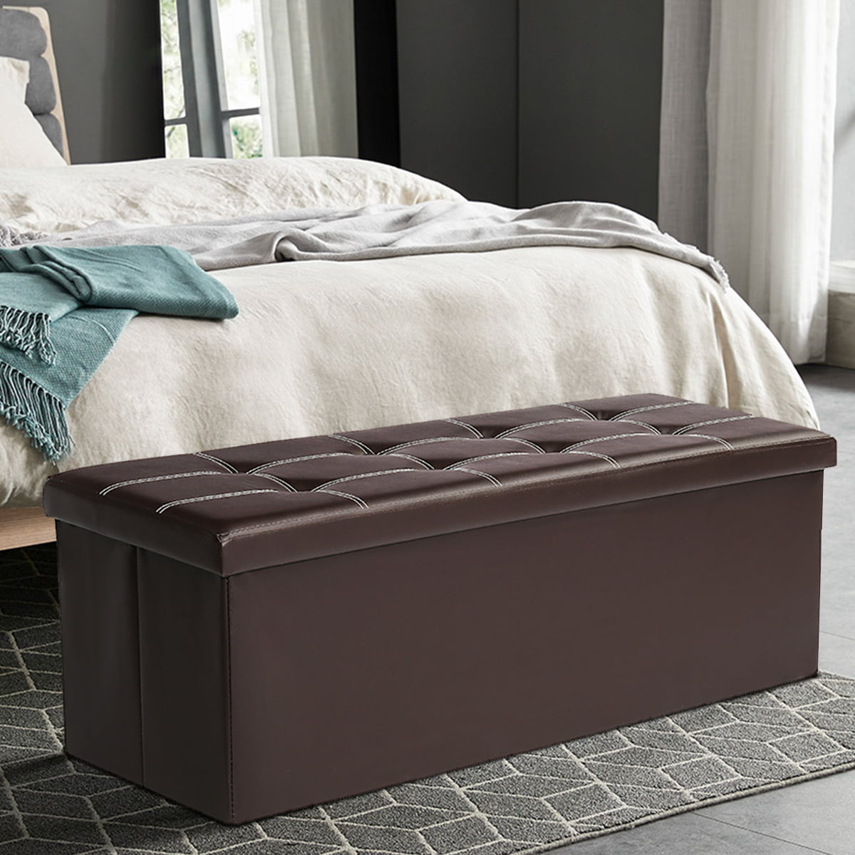 """43"""" ottoman with storage bench for kids bedroom living"""