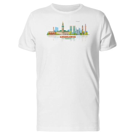 Casablanca Sleeve (City Of Casablanca Illustration Tee Men's -Image by Shutterstock)