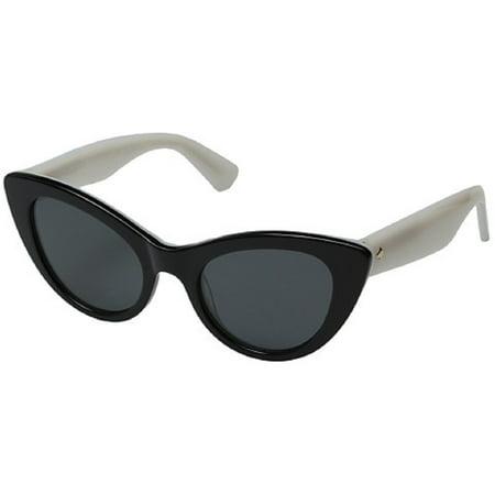 Kate Spade Sunglasses Deandra / Frame: Black White Lens: Gray Blue ...