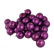 "32ct Shiny Purple Passion Shatterproof Christmas Ball Ornaments 3.25"" (80mm)"