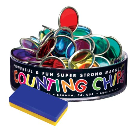 (6 Ea) Counting Chips 75 And Block Magnet - Counting Blocks