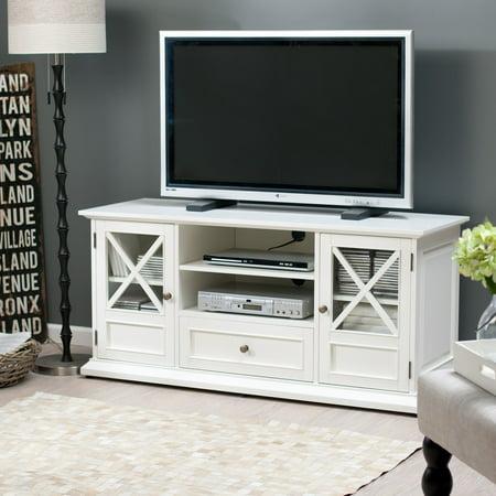 Belham living hampton tv stand white for White plasma tv stands