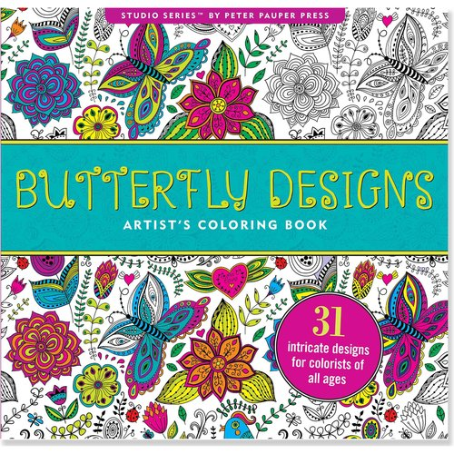 Butterfly Designs Artist's Adult Coloring Book